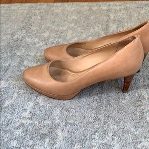 Cole Haan Shoes - Cole Haan nude Platform pumps, in great condition